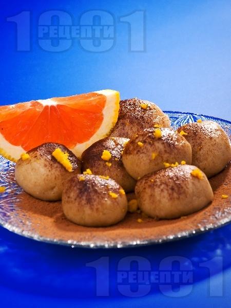 Бързи шоколадови трюфели (топчета) с портокал и какао - снимка на рецептата